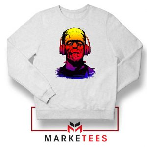 Chillinstein Halloween White Sweatshirt