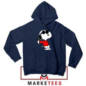 Cool Snoopy Navy Blue Hoodie