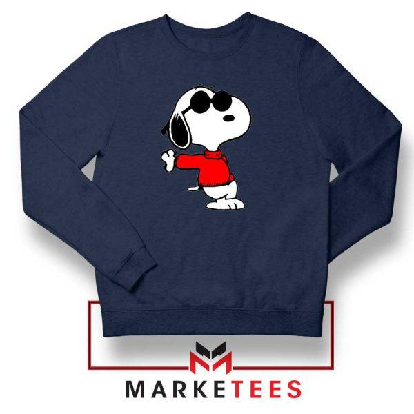 Cool Snoopy Navy Blue Sweatshirt