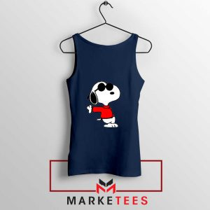 Cool Snoopy Navy Blue Tank Top