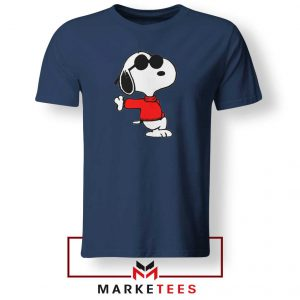 Cool Snoopy Navy Blue Tshirt