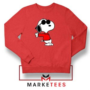 Cool Snoopy Red Sweatshirt