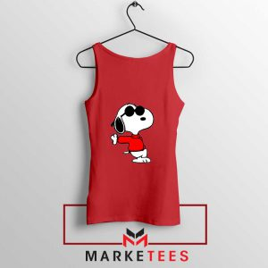 Cool Snoopy Red Tank Top