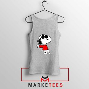 Cool Snoopy Sport Grey Tank Top