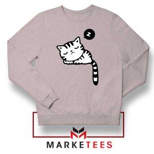 Cute Cat Sleeping Sport Grey Sweatshirt