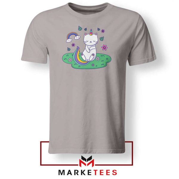 Dabbing Cat Unicorn Sport Grey Tshirt