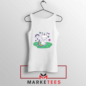 Dabbing Cat Unicorn Tank Top