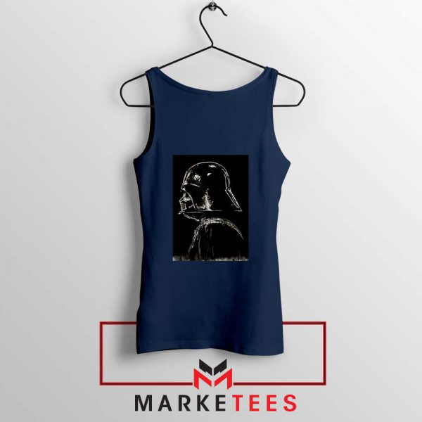 Darth Vader Dark Navy Blue Tank Top
