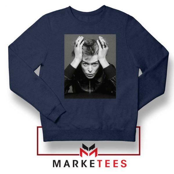 David Bowie Blackstar Navy Blue Sweatshirt