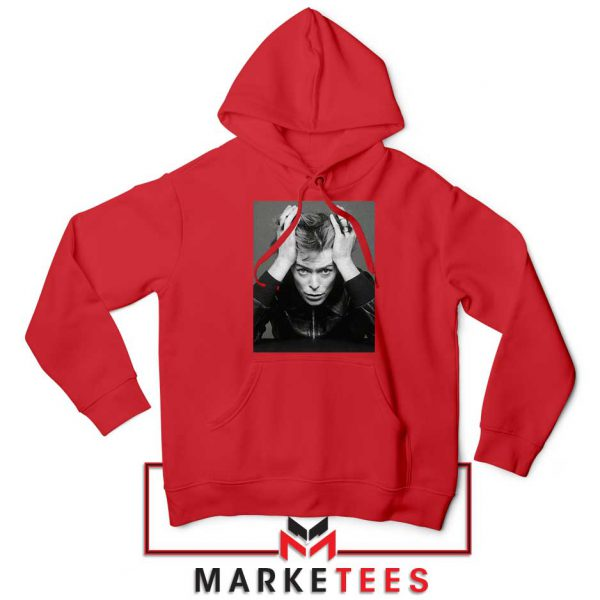 David Bowie Blackstar Red Hoodie
