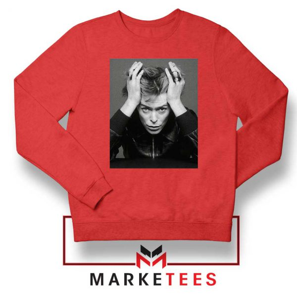 David Bowie Blackstar Red Sweatshirt