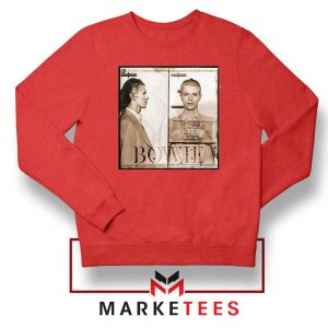 David Bowie Mugshot Red Sweatshirt