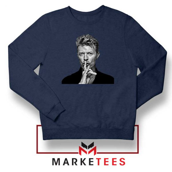 David Bowie Music Navy Blue Sweatshirt