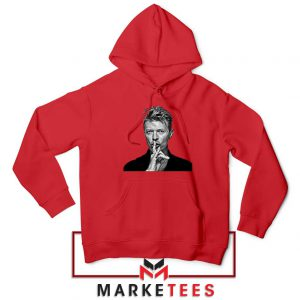 David Bowie Music Red Hoodie