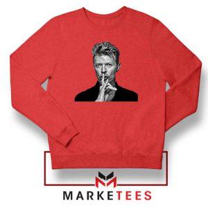 David Bowie Music Red Sweatshirt