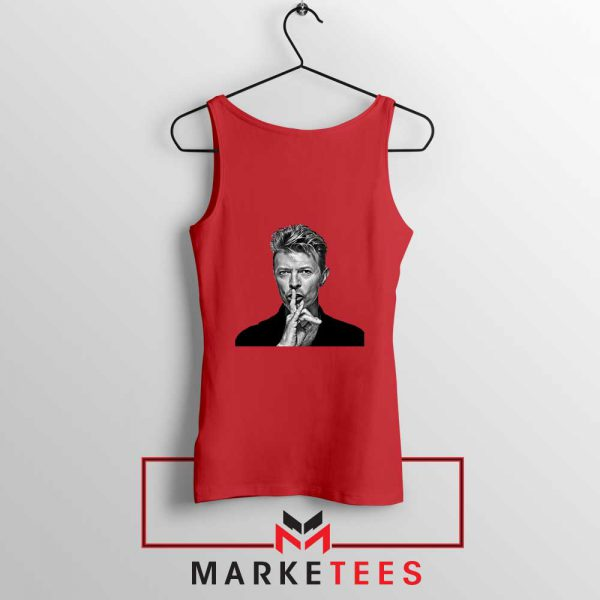 David Bowie Music Red Tank Top
