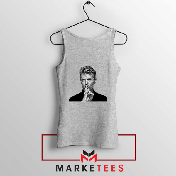 David Bowie Music Sport Grey Tank Top