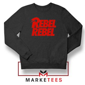David Bowie Rebel Rebel Black Sweatshirt