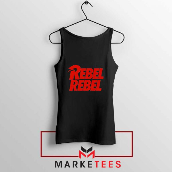 David Bowie Rebel Rebel Black Tank Top