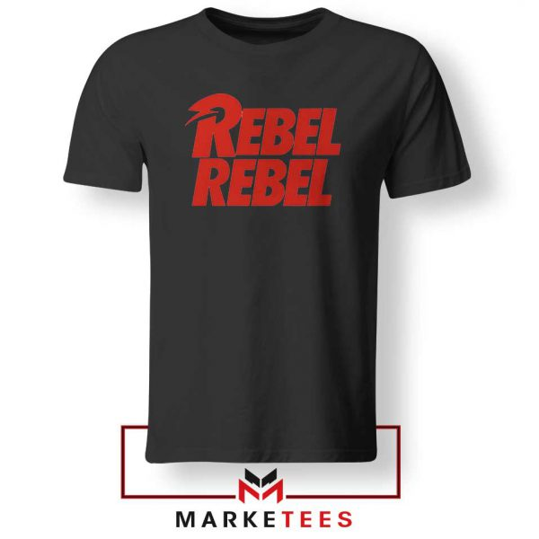 David Bowie Rebel Rebel Black Tshirt