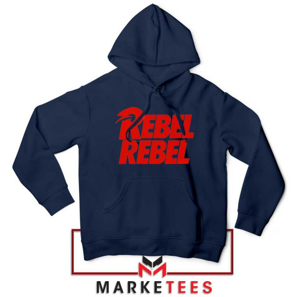 David Bowie Rebel Rebel Navy Blue Hoodie