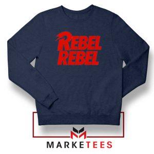 David Bowie Rebel Rebel Navy Blue Sweatshirt