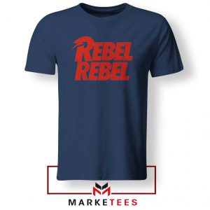 David Bowie Rebel Rebel Navy Blue Tshirt