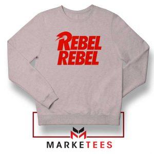 David Bowie Rebel Rebel Sport Grey Sweatshirt