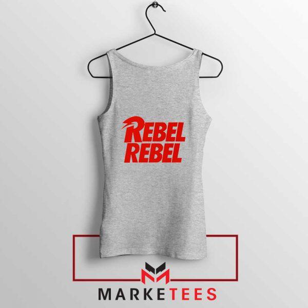 David Bowie Rebel Rebel Sport Grey Tank Top