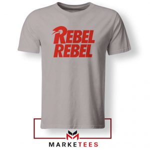 David Bowie Rebel Rebel Sport Grey Tshirt