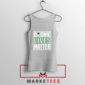 Drunk Lives Matter Sport Grey Tank Top