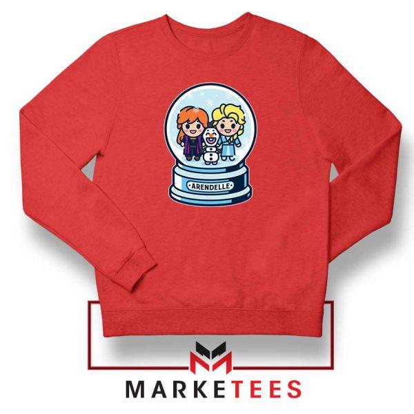 Elsa Anna Olaf Snow Globe Red Sweatshirt