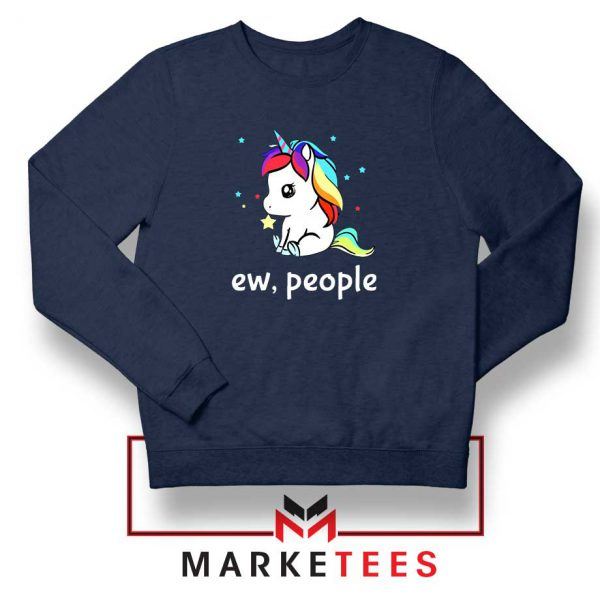 Ew People Unicorn Navy Blue Sweatshirt