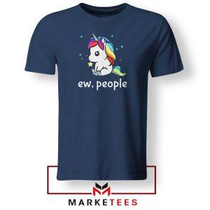 Ew People Unicorn Navy Blue Tshirt
