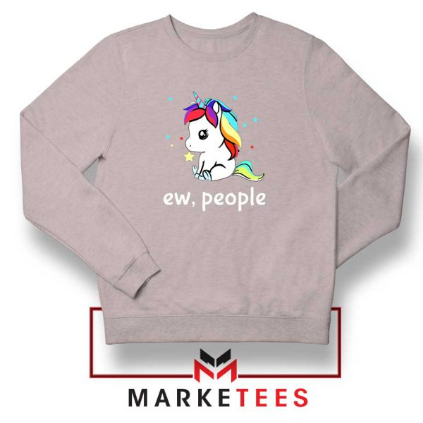Ew People Unicorn Sport Grey Sweatshirt