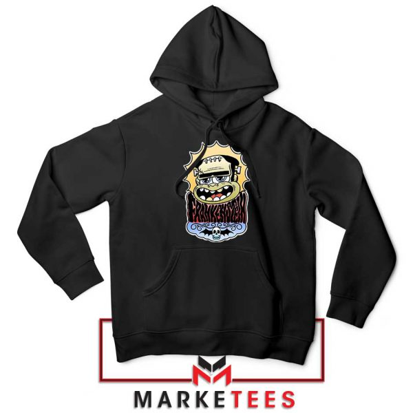 Frankenstein Cartoon Black Hoodie