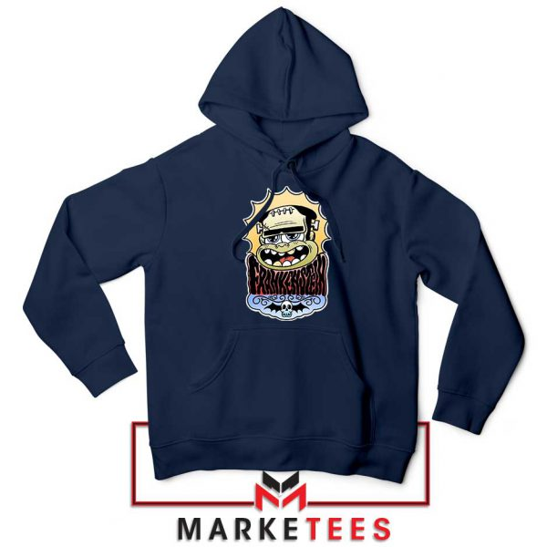 Frankenstein Cartoon Navy Blue Hoodie