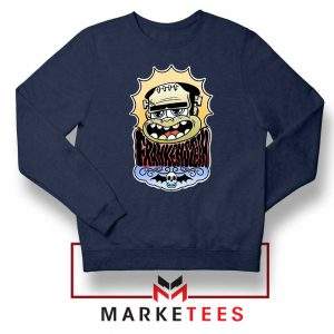 Frankenstein Cartoon Navy Blue Sweatshirt