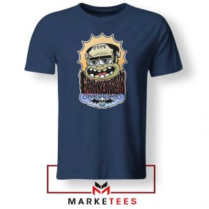 Frankenstein Cartoon Navy Blue Tshirt