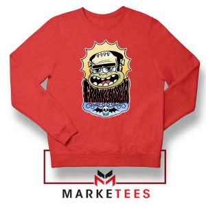 Frankenstein Cartoon Red Sweatshirt