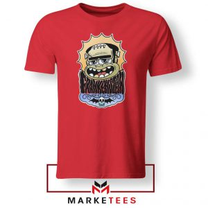Frankenstein Cartoon Red Tshirt