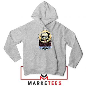 Frankenstein Cartoon Sport Grey Hoodie