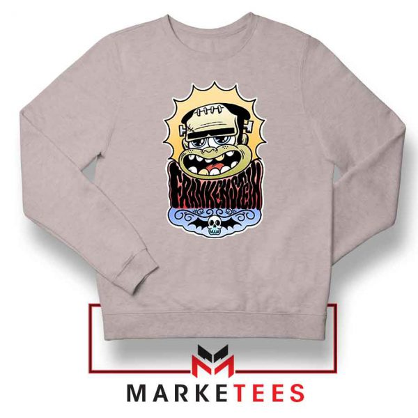 Frankenstein Cartoon Sport Grey Sweatshirt