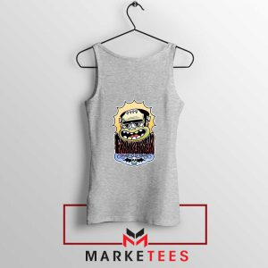 Frankenstein Cartoon Sport Grey Tank Top