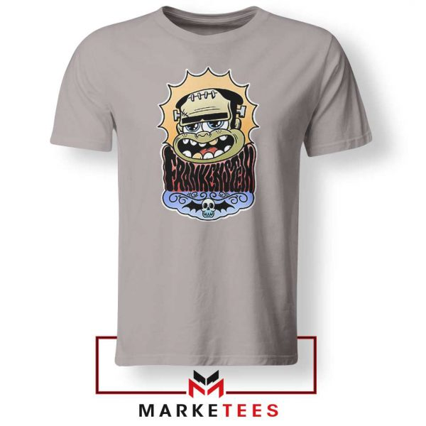 Frankenstein Cartoon Sport Grey Tshirt