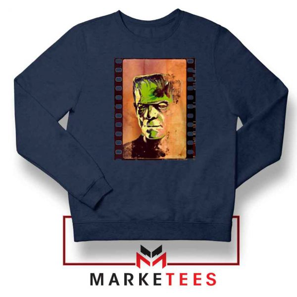 Frankie Horror Navy Blue Sweatshirt