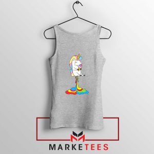 Funny Poop Unicorns Sport Grey Tank Top