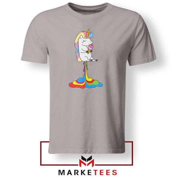 Funny Poop Unicorns Sport Grey Tshirt