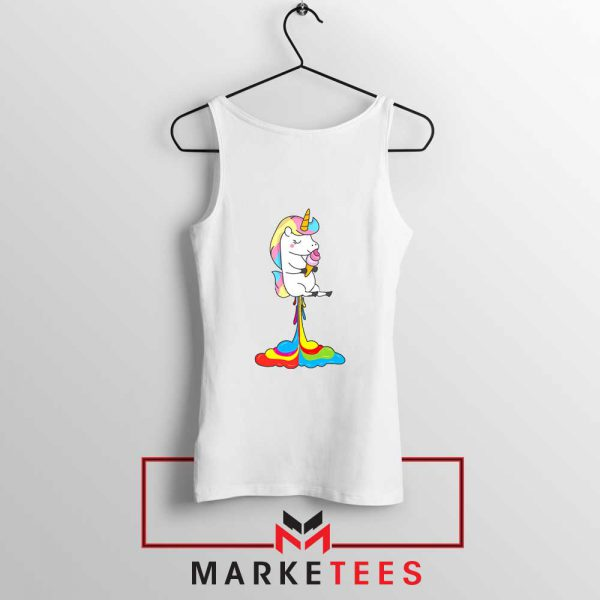Funny Poop Unicorns Tank Top