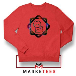 Galacta Kitty Red Sweatshirt